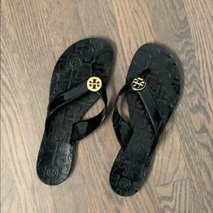 Tory Burch Black Thora Jelly Flip Flop